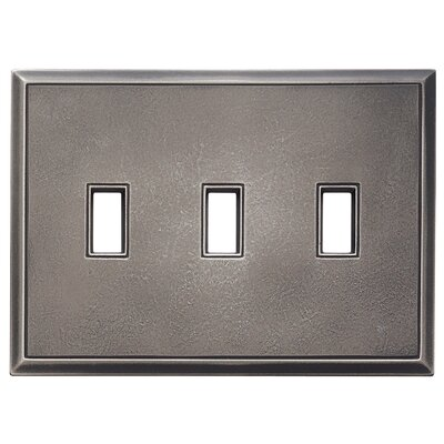 Classic Magnetic Triple Toggle Wall Plate Finish: Timeworn Steel