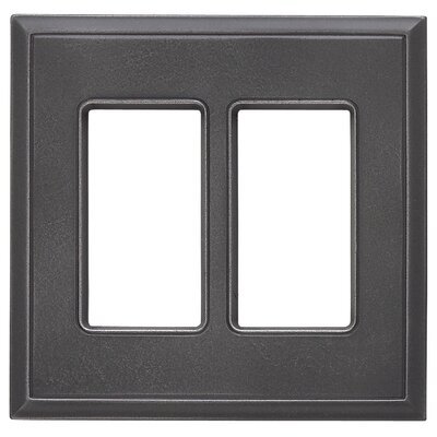 Classic Magnetic Double GFCI Wall Plate Finish: Wrought Iron
