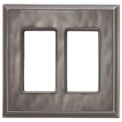 Classic Magnetic Double GFCI Wall Plate Finish: Water Classic Nickel Silver