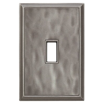 Classic Magnetic Single Toggle Wall Plate Finish: Water Classic Nickel Silver