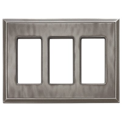 Classic Magnetic Triple GFCI Wall Plate Finish: Water Classic Nickel Silver