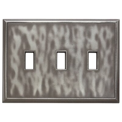 Classic Magnetic Triple Toggle Wall Plate Finish: Water Classic Nickel Silver