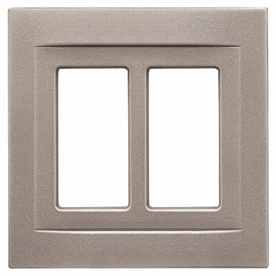 Double GFCI Magnetic Wall Plate Finish: Brushed Nickel