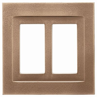 Double GFCI Magnetic Wall Plate Finish: Classic Bronze
