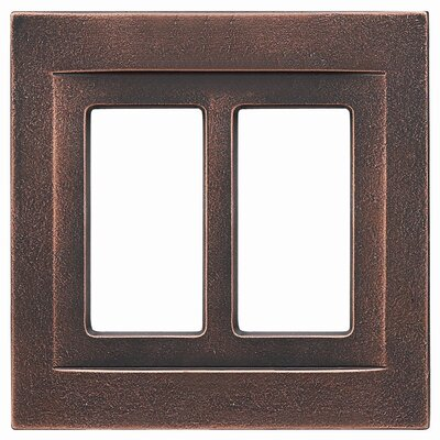 Double GFCI Magnetic Wall Plate Finish: Oil Rubbed Bronze