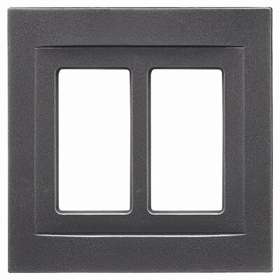 Double GFCI Magnetic Wall Plate Finish: Wrought Iron