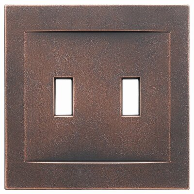 Double Toggle Magnetic Wall Plate Finish: Oil Rubbed Bronze