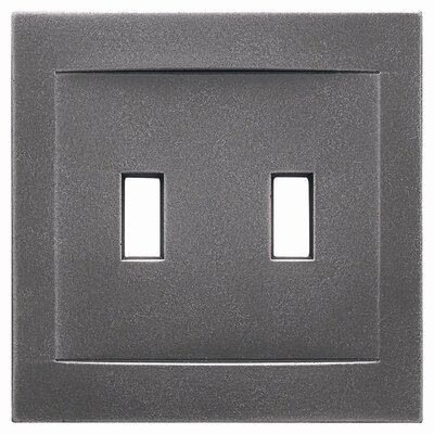 Double Toggle Magnetic Wall Plate Finish: Wrought Iron