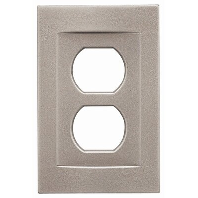 Single Duplex Magnetic Wall Plate Finish: Brushed Nickel