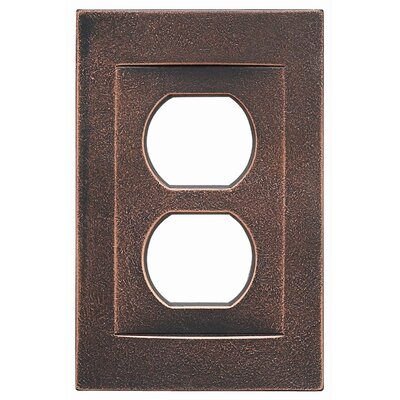 Single Duplex Magnetic Wall Plate Finish: Oil Rubbed Bronze