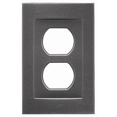 Single Duplex Magnetic Wall Plate Finish: Wrought Iron