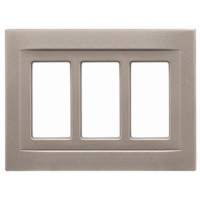 Triple GFCI Magnetic Wall Plate Finish: Brushed Nickel