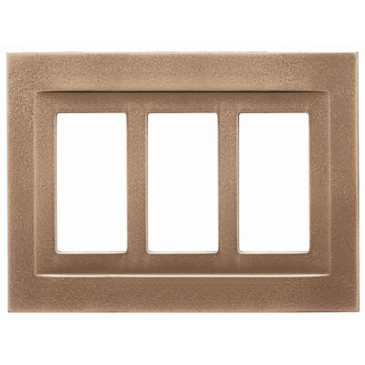 Triple GFCI Magnetic Wall Plate Finish: Classic Bronze