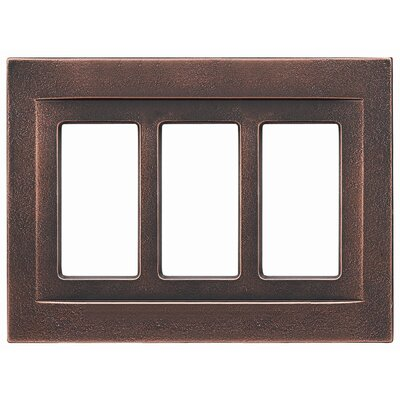 Triple GFCI Magnetic Wall Plate Finish: Oil Rubbed Bronze