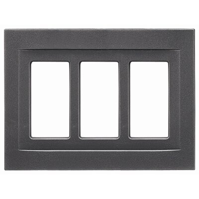 Triple GFCI Magnetic Wall Plate Finish: Wrought Iron