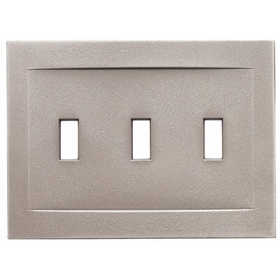 Triple Toggle Magnetic Wall Plate Finish: Brushed Nickel