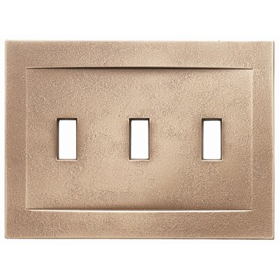 Triple Toggle Magnetic Wall Plate Finish: Classic Bronze
