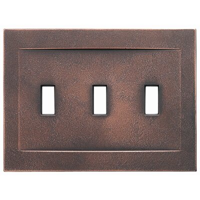 Triple Toggle Magnetic Wall Plate Finish: Oil Rubbed Bronze
