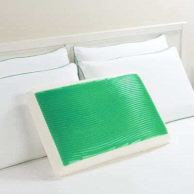 Wave Bed Memory Foam Standard Pillow Color: Green