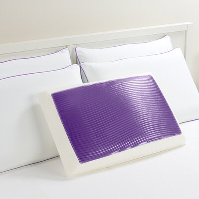 Wave Bed Memory Foam Standard Pillow Color: Purple