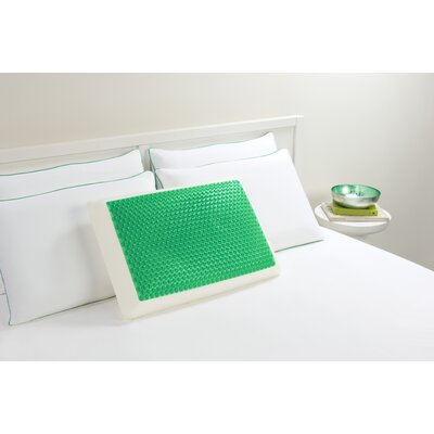 Bubble Bed Memory Foam Standard Pillow Color: Green