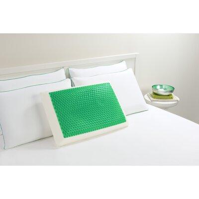 Bubble Bed Memory Foam Standard Pillow Color: Green
