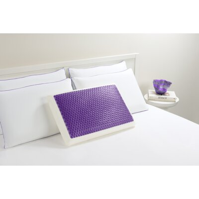 Bubble Bed Memory Foam Standard Pillow Color: Purple