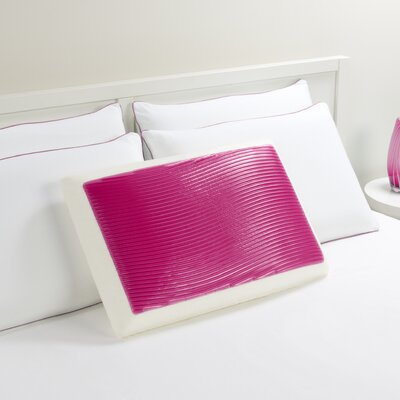 Wave Bed Memory Foam Standard Pillow Color: Pink