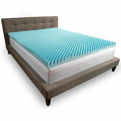 Convoluted 3 Memory Foam Mattress Topper Size: King