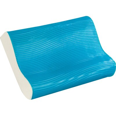 Wave Bed Memory Foam Contour Pillow Color: Blue