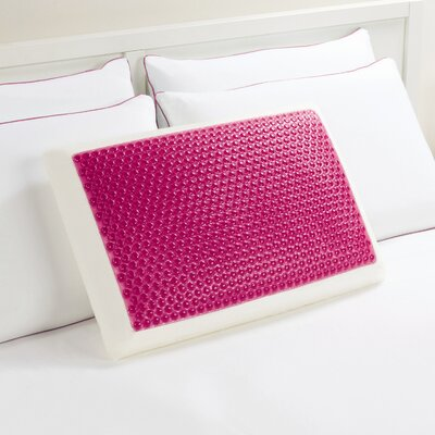 Hyrdraluxe Memory Foam Standard Pillow Color: Pink