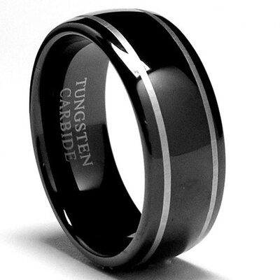 Bonndorf Tungsten Dome Laser Etched Comfort Fit Wedding Band - Size: 6.5 at Sears.com