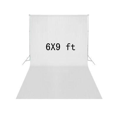 Economy Muslin Backdrop For Photography Finish: White