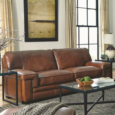 Simon Li J310-3S-LW-SPOK Macco Leather Sofa