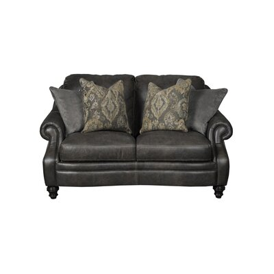 Shantell Leather Loveseat