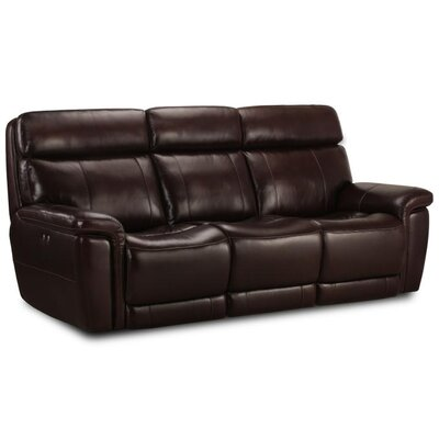 Monty Genuine Leather Reclining Sofa