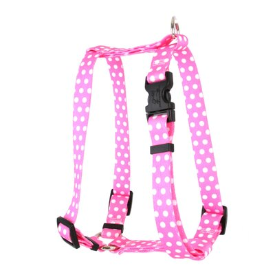 "Yellow Dog Design New Polka Dot �Roman Harness - Size: Extra Small (0.375"" x 8-14""), Color: Purple at Sears.com"