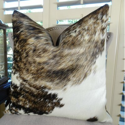 Exotic Tri Dark Handmade Throw Pillow Size: 18 H x 18 W