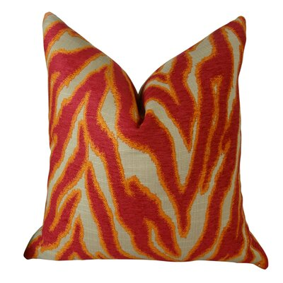 Smooth Move Fuchsia Throw Pillow Size: 18 H x 18 W