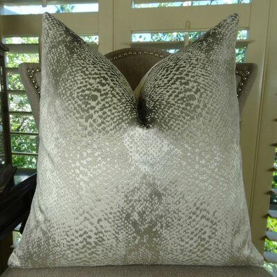 Hidden World Handmade Throw Pillow Color: Silver, Size: 26 H x 26 W