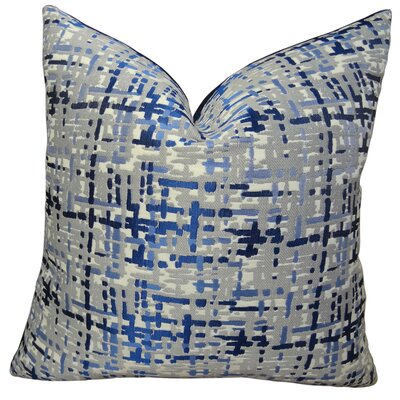 Abstract Plaid Throw Pillow Size: 18 H x 18 W