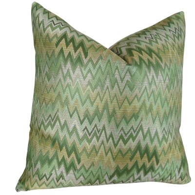 Peek Leaf Double Sided Throw Pillow Size: 20 H x 20 W