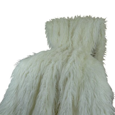 Mongolian Faux Fur Acrylic Throw Size: Twin