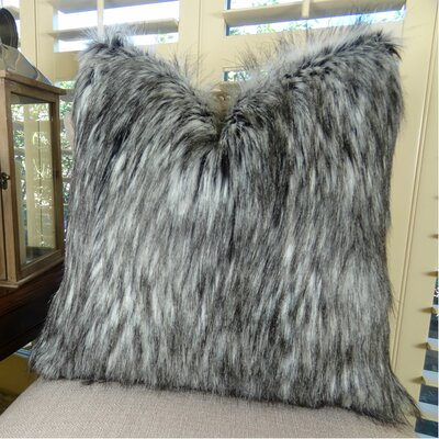 Siberian Husky Handmade Faux Throw Pillow Size: 18 H x 18 W