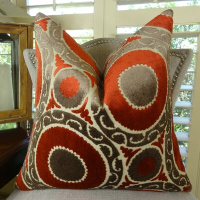 Pomegranate Double Sided Throw Pillow Size: 24 H x 24 W