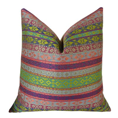 Fuchsia Stripes Double Sided Throw Pillow Size: 22 H x 22 W