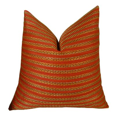 Tied Rows Throw Pillow - Double Sided Size: 20 H x 20 W