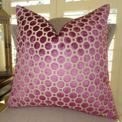 Velvet Geo Handmade Throw Pillow - Double Sided Size: 26 H x 26 W
