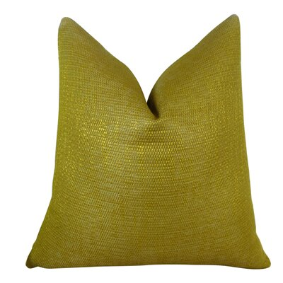 Lemon Curry Double Sided Cotton Throw Pillow Size: 24 H x 24 W