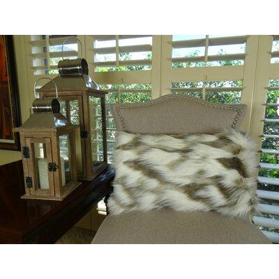 Tibet Fox Handmade Faux Lumbar Pillow Size: 12 H x 25 W
